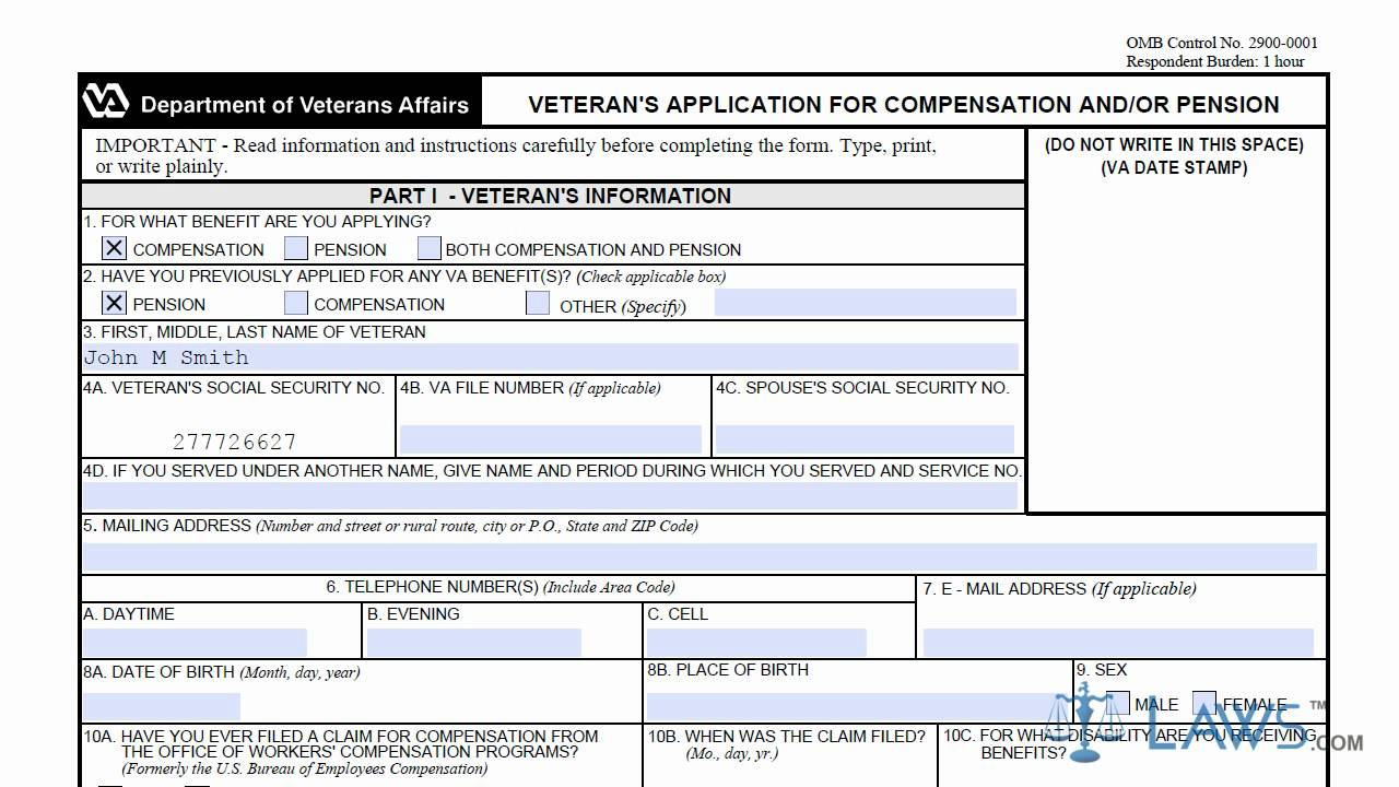 VA Form 21 526 - YouTube
