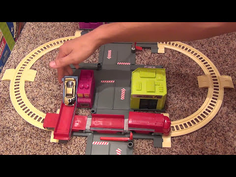 hot wheels city sets train station playset real working. Black Bedroom Furniture Sets. Home Design Ideas