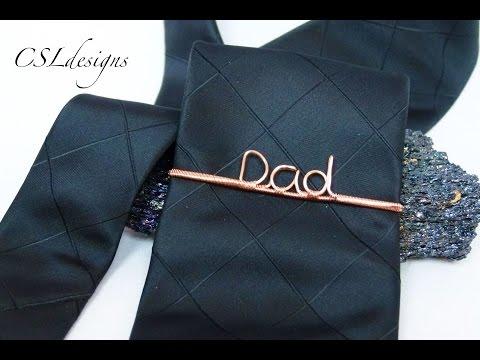 Wirework tie pin