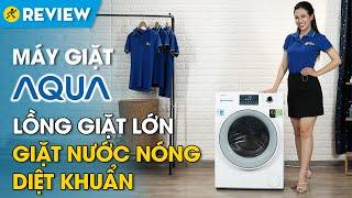 Máy giặt Aqua Inverter 8.5 kg: giặt nước nóng diệt khuẩn, bảo vệ quần áo (AQD-D850E) • Điện máy XANH