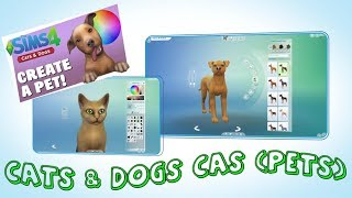 Sims 4 Cats & Dogs Expansion Pack CAS Overview (Pets)