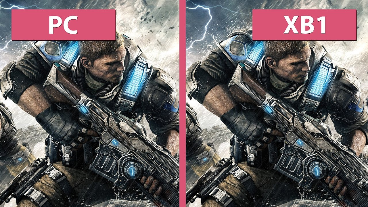 Gears of War 4 – PC Ultra vs  Xbox One Graphics Comparison