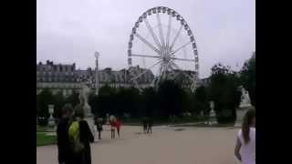 Сад Тюильри. Колесо обозрения. Париж(, 2014-09-22T12:30:07.000Z)