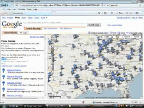 Nwo Fema Concentration Camps In Usa W Google Earth Google Rex