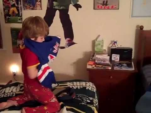 Bedtime? Not these young fans! - New York Rangers Blueshirts Ultimate Fan Contest