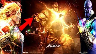 Avengers 4 Captain Marvel Wields Infinity Gauntlet REVEALED!? Captain Marvel Key To Defeat Thanos!