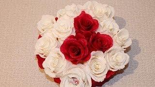 Букет из конфет - Букет роз из конфет(Как сделать букет из конфет- Букет роз из конфет своими руками - мастер класс., 2014-04-21T08:25:16.000Z)