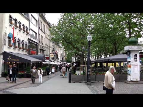 Luxembourg City - main square and shops