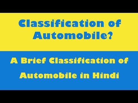 Classification of Automobiles In Hindi l Brief Classification l List of automobile types