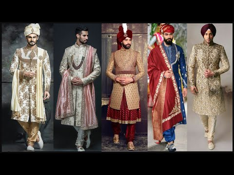 Men wedding dress design/Men sherwani/Men Indowestern wedding dresses/Indian wedding dress- FSHC