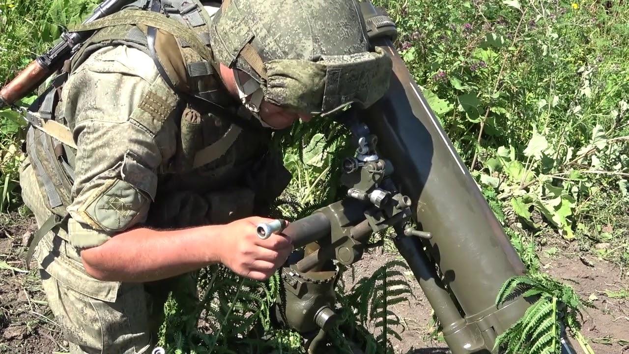 Двустороннее тактическое учение с боевой стрельбой на полигоне Гвардейский