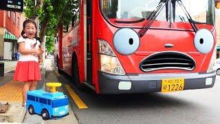 보람이 타요랑 버스타고 수영장 물놀이 Boram Ride On The Bus