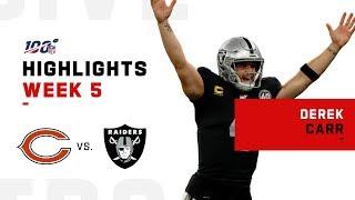 Derek Carr Highlights vs. Bears | NFL 2019