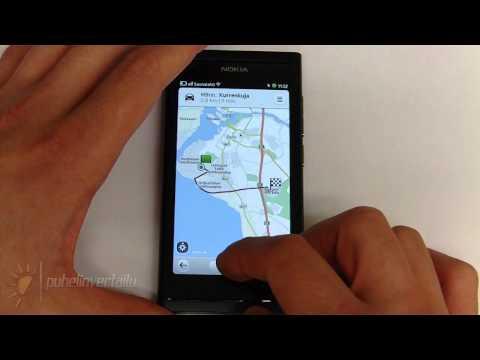Nokia N9 - Kartat ja Drive