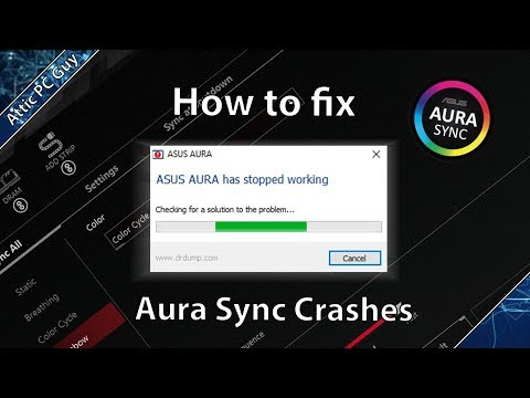 "Aura Sync fix - ""Aura has stopped working"""
