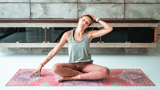 Easy Bed Time Yoga for Deep Sleep & Less Anxiety | Breathe and Flow Yoga