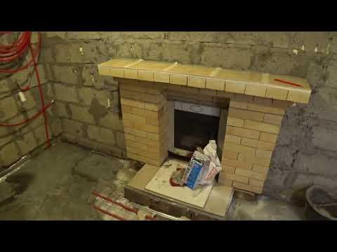 теплый пол в бане. реально. обзор камина. все четко