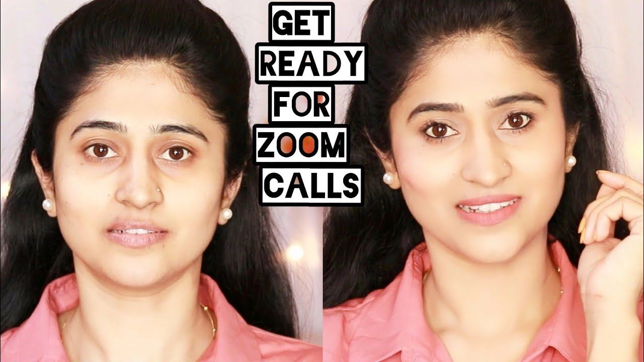 """""""No Makeup"""" makeup look for zoom calls, online meetings without foundation 