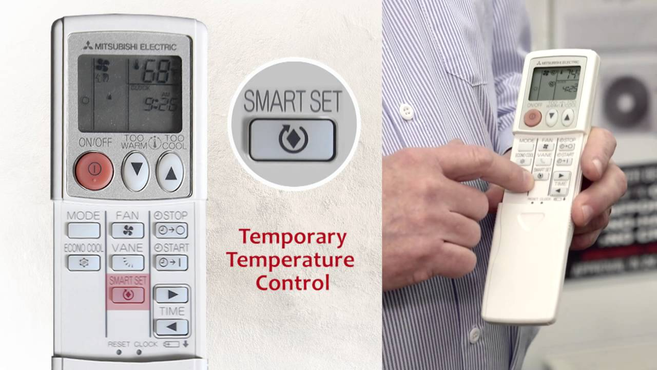 how to use a mitsubishi air conditioner remote control guide youtube rh youtube com Mitsubishi Mr. Slim Product Literature Mr. Slim Mitsubishi MXZ-4B36NA Thermostat