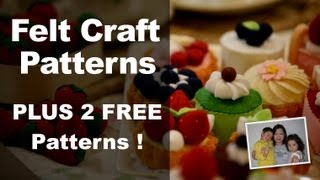Repeat youtube video Felt Craft - Step by Step Felt Craft Food Patterns from