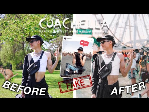i FAKED going to COACHELLA on instagram for a week & this is what happened...