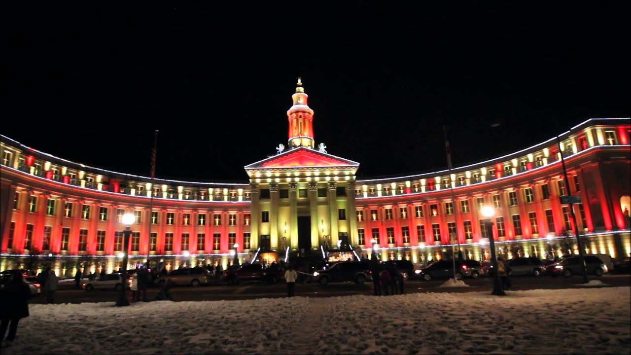 City and County Building, Denver, CO - Christmas Lights (2015 ...