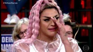 Pabllo Vittar chora ao falar de bullying sofrido na infancia no Altas Horas 01092018
