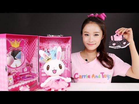 캐리의 프린세스 프링 드레스룸 장난감 인형 놀이 CarrieAndToys