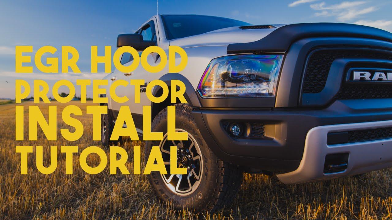 2015 Ram 2500 >> EGR Hood Protector: RAM 1500 Install Tutorial - YouTube