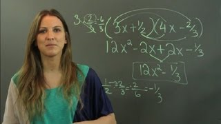 How to Set Up FOIL for Fractions : Math Tutoring