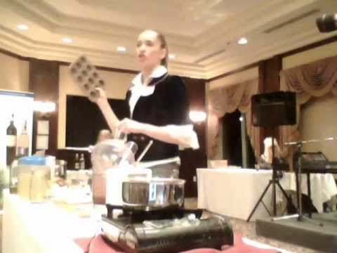 Web Chef Kimberly Turner at the 2012 Women in Finance Event: Cooking with Kimberly