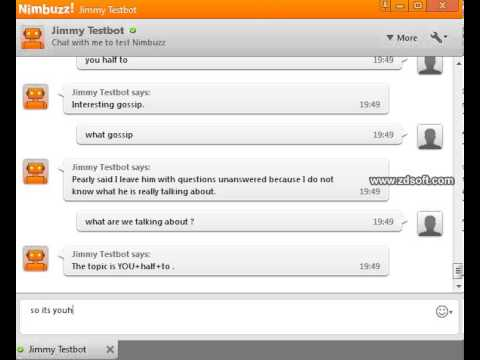 Chatting With Jimmy Test Bot (NIMBUZZ) *FUNNY*