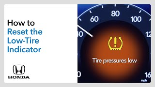 homepage tile video photo for How to Reset the Low-Tire Pressure Indicator