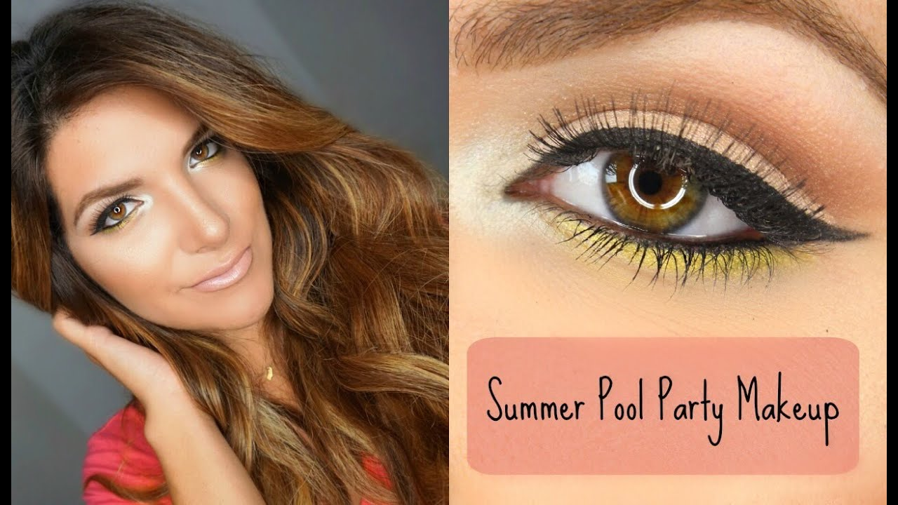 Pool party makeup