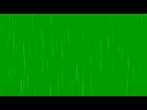 GREEN SCREEN RAIN EFFECT