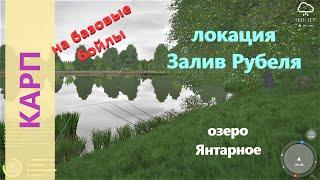 Русская рыбалка 4 - озеро Янтарное - Карп эксперимент с базовыми бойлами