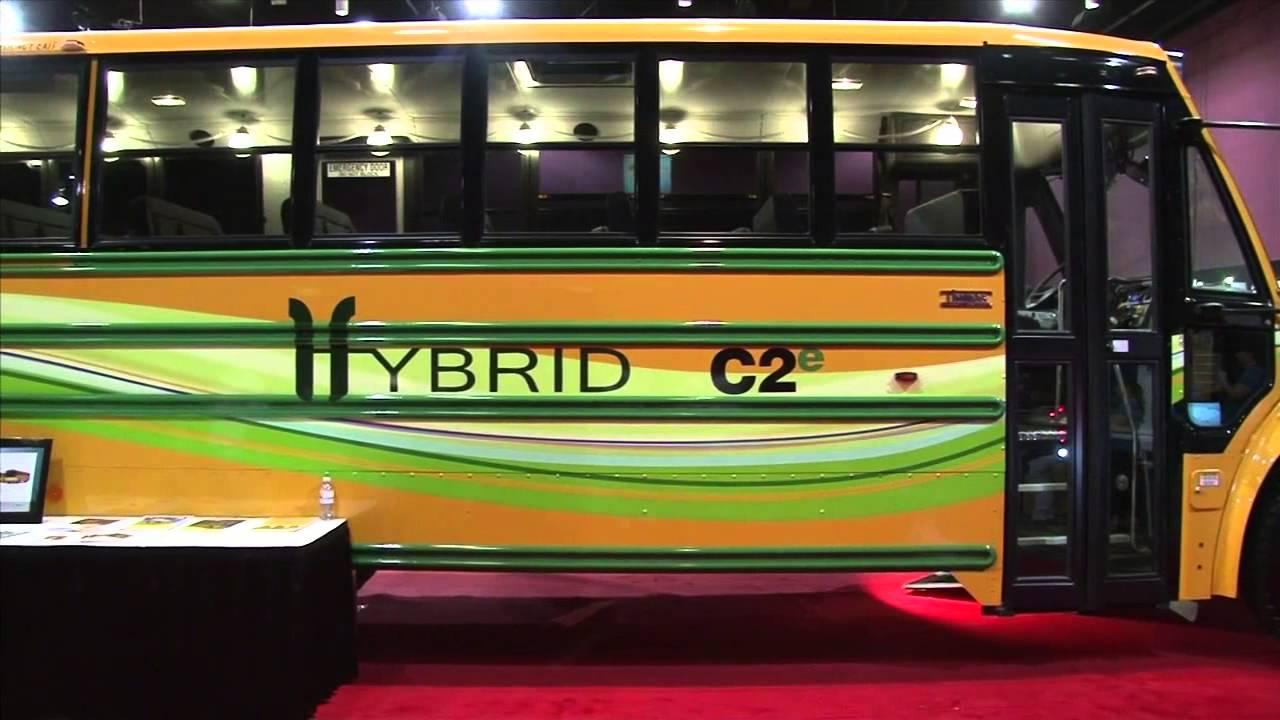 Thomas Built Buses >> STN EXPO 2012: Thomas Built Buses - C2e Hybrid Bus - YouTube