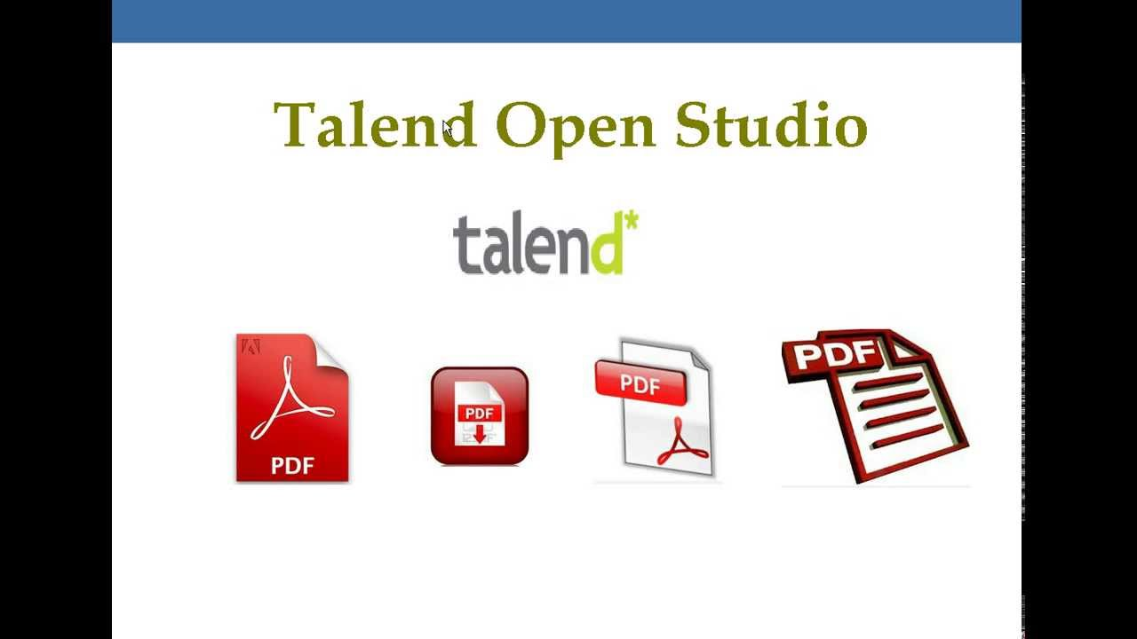 How To Generate Pdf Output Using Talend Youtube