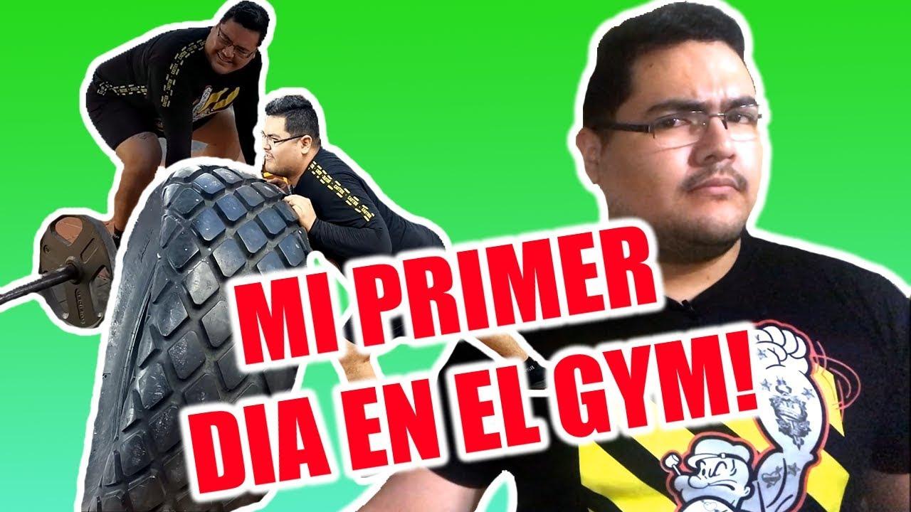 Mi primer dia en el gym!!!