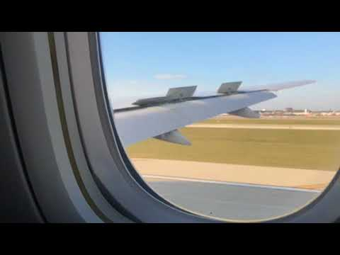 United Airlines B777-200 Landing ORD From SFO Nov 21 2017