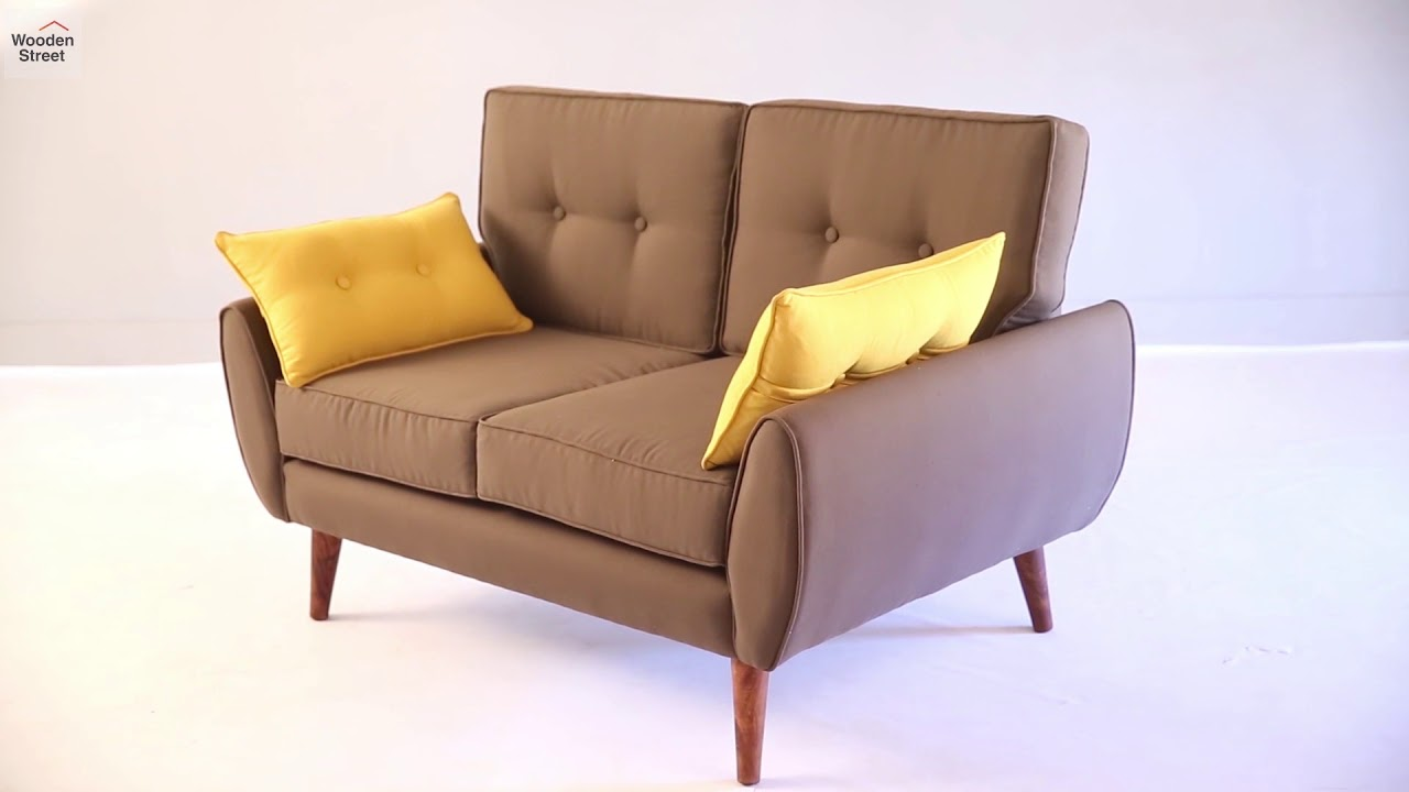 Sofa Online Shop Two Seater Sofa Shop Angela 2 Seater Sofa Online In Classic Brown Wooden Street