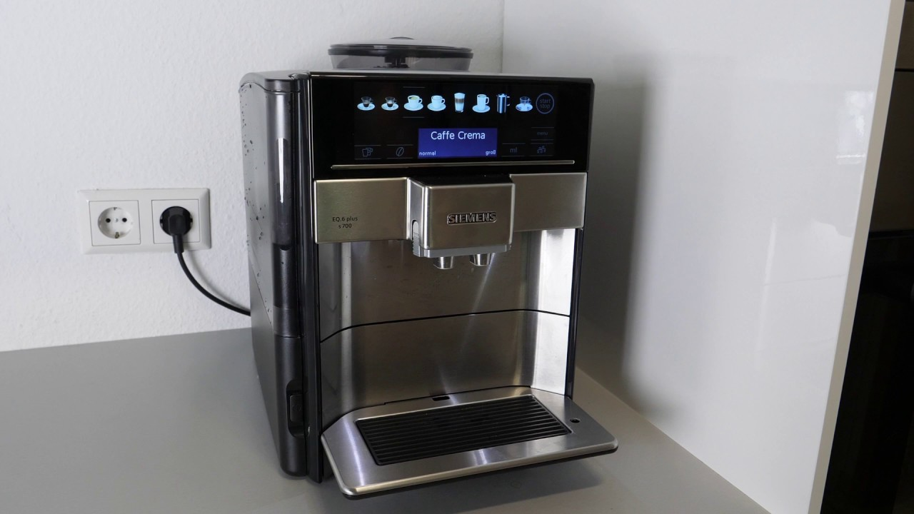 siemens eq 6 plus kaffeevollautomat wasserfilter wechseln einsetzen youtube. Black Bedroom Furniture Sets. Home Design Ideas