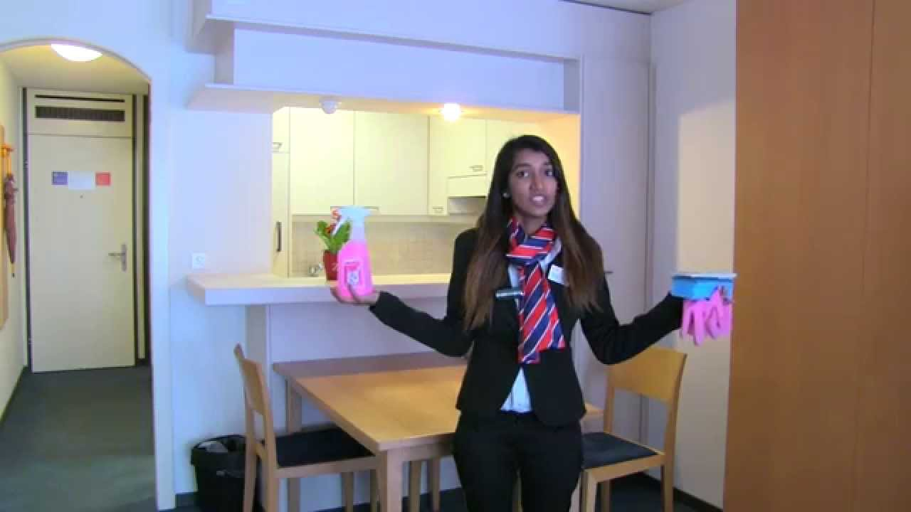 Housekeeping Training How To Clean The Bathroom Youtube