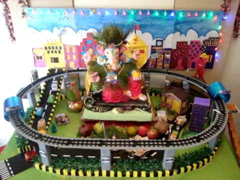 Metro Theme Ganpati Decoration