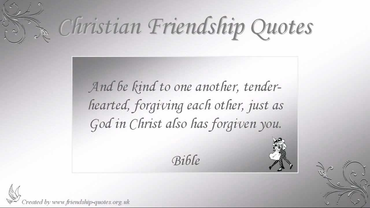 Quotes About Christian Friendship Pleasing Christian Friendship Quotes  Youtube