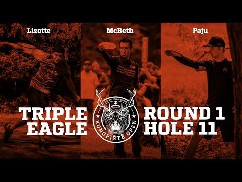 2017 Konopiště Open: Triple EAGLE on Hole 11 (Lizotte, McBeth, Paju)