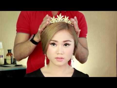 SIMPLE UPDO  / HAIR TUTORIAL FOR WEDDING PARTY   RANGGA MAKEUP