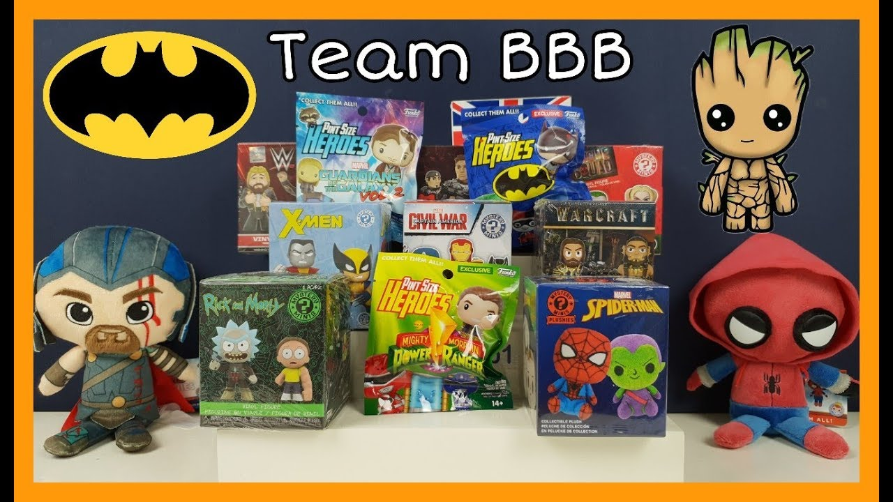 BATMAN FUNKO MYSTERY MINIS VINYL FIGURES /& PLUSHIES X-MEN WWE AND MORE NEW