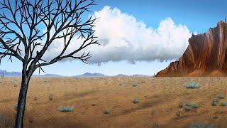 Animated Digital Painting - Desert (Corel Painter SpeedPaint)