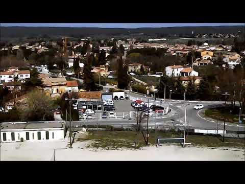 Football field drone HD epic travel (720p)